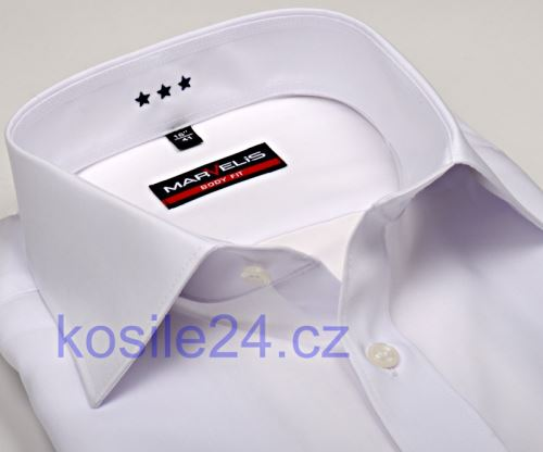Marvelis Body Fit – bílá košile - prodloužený rukáv