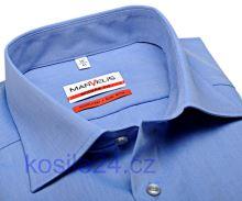 Marvelis Modern Fit Chambray – středně modrá košile - krátký rukáv