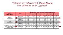 Casa Moda Modern Fit Premium – luxusní červená košile s bílým rastrováním a vnitřním límcem, manžetou a légou