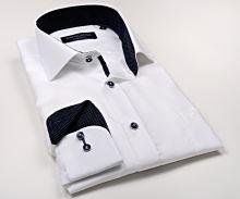 256586decd7f Casa Moda Comfort Fit Premium – luxusná biela košeľa so štruktúrou a  vnútorným golierom - extra