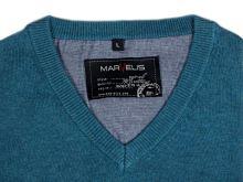 Bavlněný svetr Marvelis – modro-zelený
