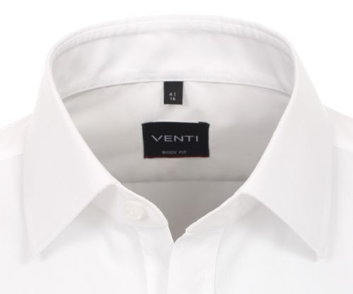 Venti Body Fit – bílá košile - extra prodloužený rukáv