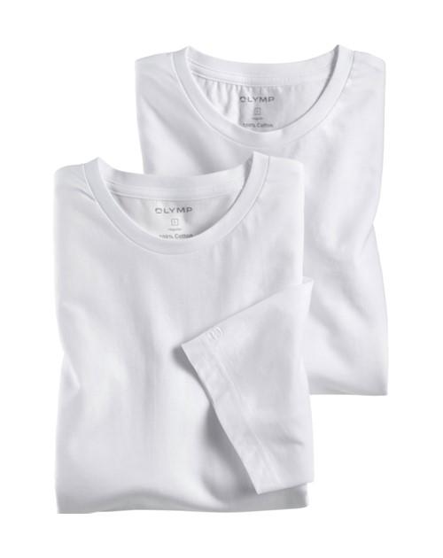 Bílé bavlněné tričko Olymp s krátkým rukávem - kulatý výstřih (2 ks) e33eb2842d