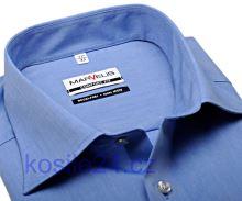 Marvelis Comfort Fit Chambray – středně modrá košile - krátký rukáv