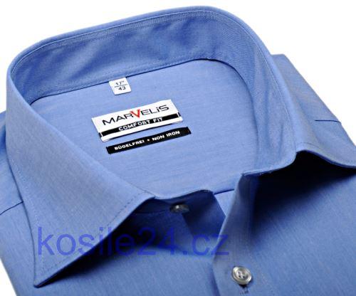 Marvelis Comfort Fit Chambray – středně modrá košile