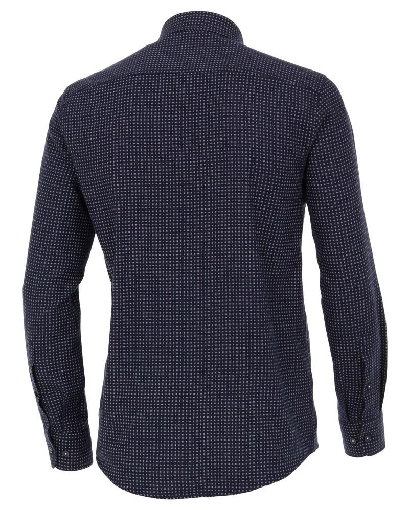 Casa Moda Casual Fit – tmavě modrá košile s bílými čtverečky - kašmírová  úprava fd8b7a55c1