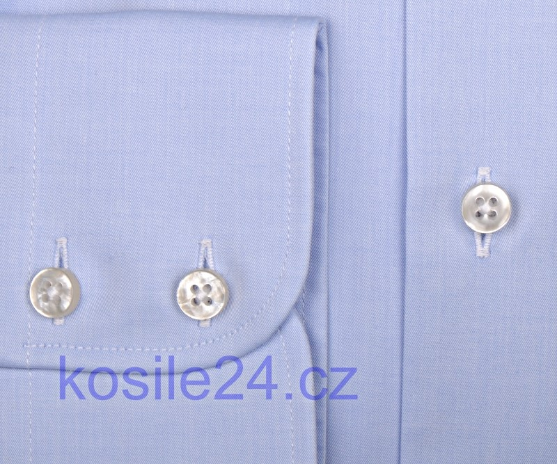 79f868290dc0 Eterna 1863 Slim Fit Twill - luxusná svetlomodrá košeľa