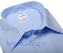 Olymp Luxor Comfort Fit Uni Popeline - světle modrá - zkrácený rukáv