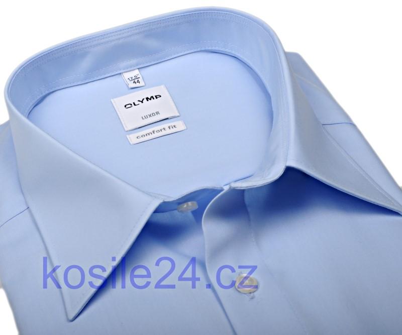 35278cb317d Olymp Luxor Comfort Fit Uni Popeline - světle modrá - zkrácený rukáv
