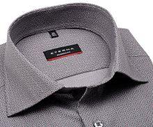 Eterna Modern Fit – šedá košile se vzorem šestiúhelníku