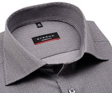 Eterna Modern Fit – sivá košeľa s vzorom šesťuholníku