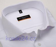 Eterna Slim Fit Twill Cover - luxusná biela nepriehľadná košeľa - extra predĺžený rukáv