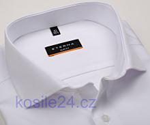 Eterna Slim Fit Twill Cover - luxusní bílá neprůhledná košile - extra prodloužený rukáv
