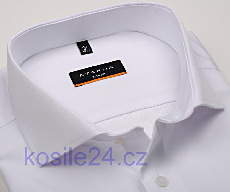 9973da2d86e0 Eterna Slim Fit Twill Cover - luxusní bílá neprůhledná košile