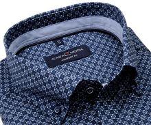 Casa Moda Comfort Fit – košeľa s modro-bielym vzorom, svetlomodrým vnútorným golierom a manžetou