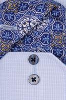 Eterna Slim Fit – svetlomodrá košeľa s jemnou štruktúrou a vnútorným golierom