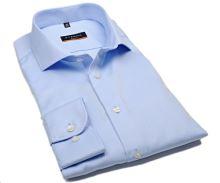 Eterna Slim Fit Twill Cover - luxusná svetlomodrá nepriehľadná košeľa