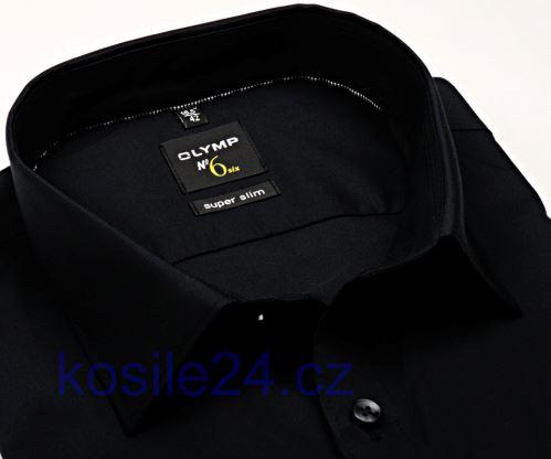 Olymp Super Slim – čierna košeľa