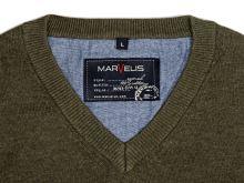 Bavlněný svetr Marvelis – olivově zelený