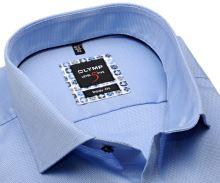 Olymp Level Five – svetlomodrá košeľa s jemnou štruktúrou a modro-béžovým vnútorným golierom - predĺžený rukáv