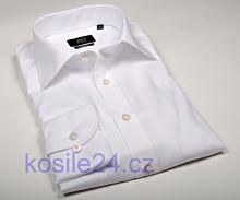 Eterna 1863 Modern Fit Twill - luxusní bílá košile - prodloužený rukáv