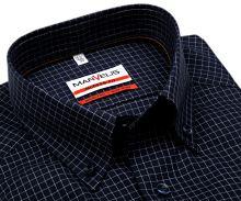 Marvelis Modern Fit – tmavomodrá košile s vetkanou bílou kostičkou