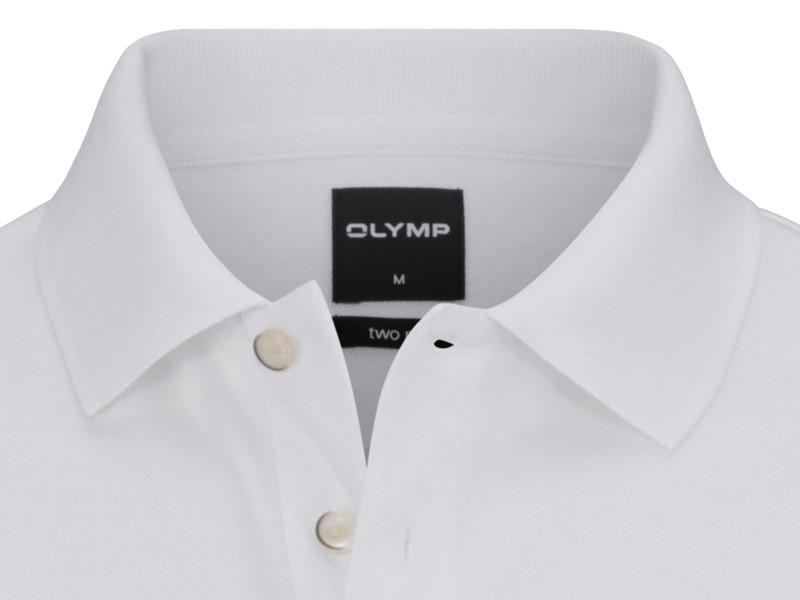 6210fec9e1e0 Bavlnené biele polo tričko Olymp s golierom