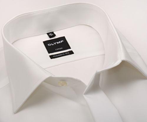Olymp Luxor Modern Fit - champagne gala košeľa s dvojitou manžetou a skrytou légou - predĺžený rukáv