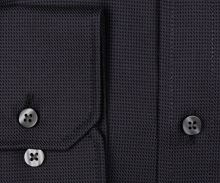 Eterna Comfort Fit Twill – luxusní antracitová košile s vetkaným vzorem - prodloužený rukáv