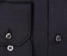 Eterna Modern Fit Twill – luxusná antracitová košeľa s votkaným vzorom - predĺžený rukáv