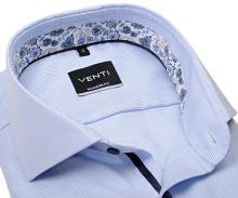 Venti Modern Fit – svetlomodrá košeľa s vnútorným golierom a manžetou - predĺžený rukáv