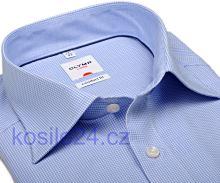 Olymp Luxor Comfort Fit – košile se světle modrým minikárem s vnitřním límcem - krátký rukáv