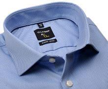 Olymp Super Slim Diamant Twill – luxusná svetlomodrá košeľa s diagonálnou štruktúrou
