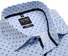 Olymp Level Five – svetlomodrá košeľa s bodkami - krátky rukáv