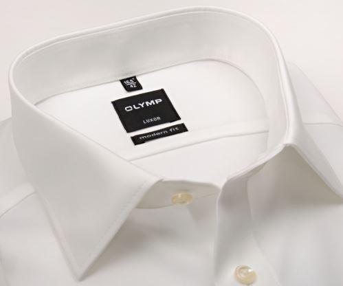 Olymp Luxor Modern Fit Uni Popeline - champagne - predĺžený rukáv