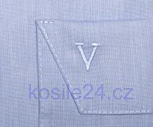 Marvelis Modern Fit Chambray – světle modrá košile - krátký rukáv