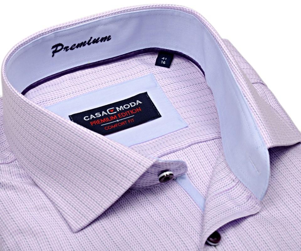 Casa Moda Comfort Fit Premium – luxusní košile s růžovým proužkem a  vnitřním límcem - extra 444c731e34