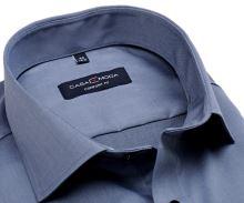 Casa Moda Comfort Fit Twill – luxusní kovově modrá košile - extra prodloužený rukáv