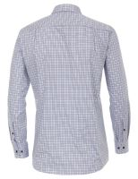 Casa Moda Comfort Fit Premium – košile s modro-hnědým kostkovaným vzorem - extra prodloužený rukáv