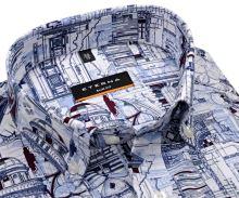 Eterna Slim Fit – luxusní designová košile s architektonickými motivy