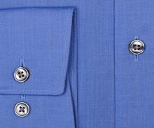 Olymp Luxor Modern Fit Chambray - středně modrá - prodloužený rukáv