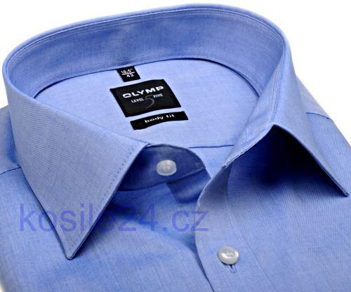 Olymp Level Five Chambray – světle modrá košile - prodloužený rukáv