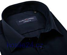 Casa Moda Comfort Fit – tmavomodrá košeľa - krátky rukáv