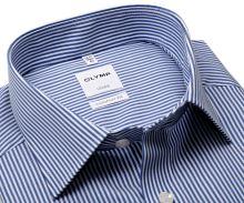 Olymp Comfort Fit Twill – košeľa s tmavomodrým prúžkom
