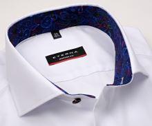 Eterna Modern Fit Fine Oxford – biela košeľa s jemnou štruktúrou a vnútorným golierom - predĺžený rukáv