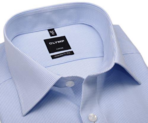Olymp Luxor Modern Fit - světle modrá kostička