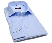 Eterna Modern Fit Twill Cover - luxusní světle modrá neprůhledná košile - prodloužený rukáv