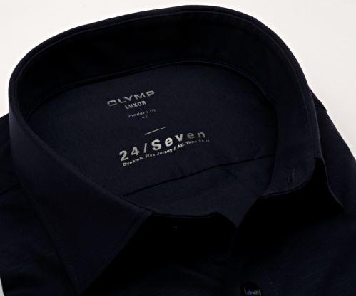 Olymp Modern Fit 24/Seven – tmavomodrá elastická košile