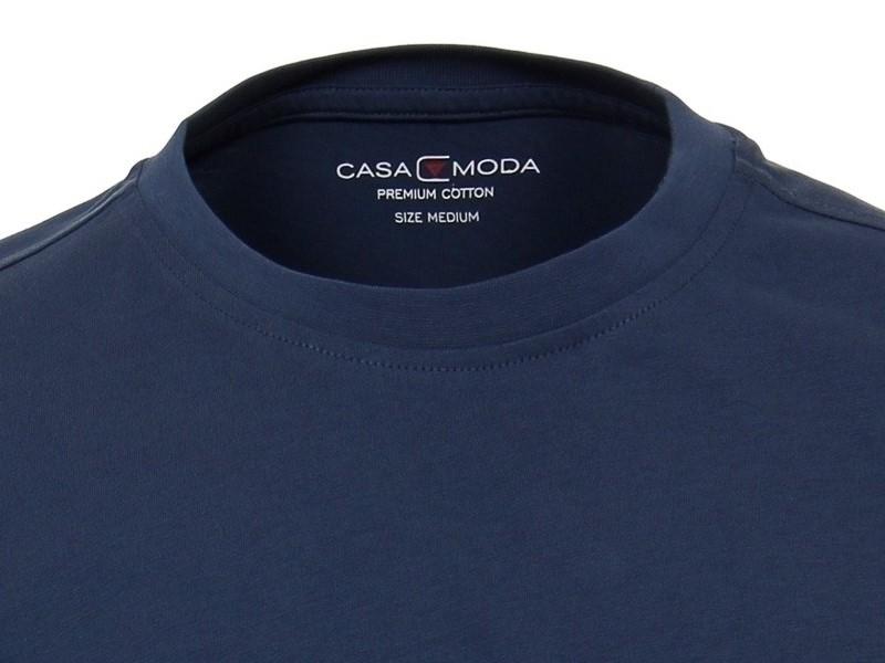 be3f5fa0689f Modré pánské tričko Casa Moda s krátkým rukávem