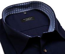 Eterna Comfort Fit – tmavomodrá košeľa s vnútorným golierom a manžetou - extra predĺžený rukáv